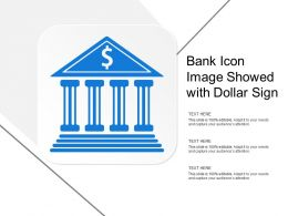 Bank Icon Image Showed With Dollar Sign