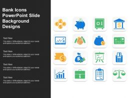 Bank Icons Powerpoint Slide Background Designs