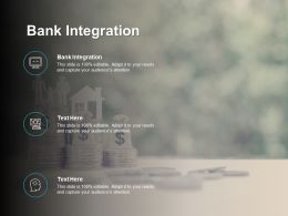 Bank Integration Ppt Powerpoint Presentation Infographic Template Structure Cpb