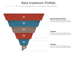 Bank Investment Portfolio Ppt Powerpoint Presentation Show Infographic Template Cpb