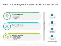 Bank Loan Management System With Customer Service
