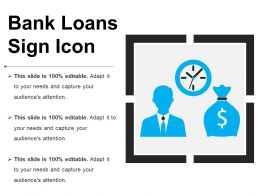 Bank Loans Sign Icon