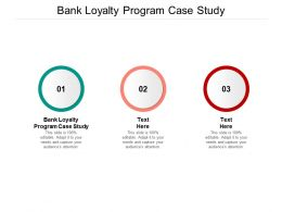 Bank Loyalty Program Case Study Ppt Powerpoint Presentation Portfolio Skills Cpb