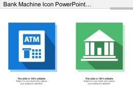 Bank Machine Icon Powerpoint Presentation Examples