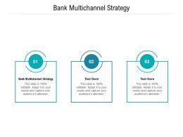 Bank Multichannel Strategy Ppt Powerpoint Presentation Show Example Topics Cpb