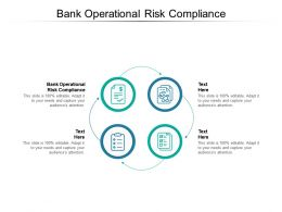 Bank Operational Risk Compliance Ppt Powerpoint Presentation Professional Mockup Cpb