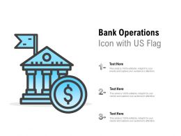 Bank Operations Icon With US Flag