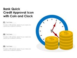 Bank Quick Credit Approval Icon With Coin And Clock