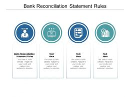 Bank Reconciliation Statement Rules Ppt Powerpoint Presentation Topics Cpb