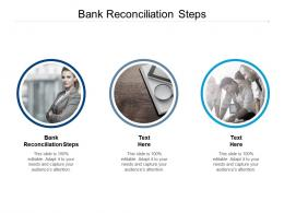 Bank Reconciliation Steps Ppt Powerpoint Presentation File Display Cpb