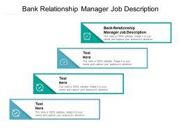 Bank Relationship Manager Job Description Ppt Powerpoint Presentation Inspiration Graphics Tutorials Cpb