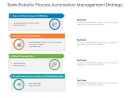Bank Robotic Process Automation Management Strategy