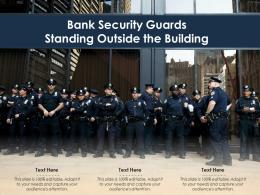 Bank Security Guards Standing Outside The Building