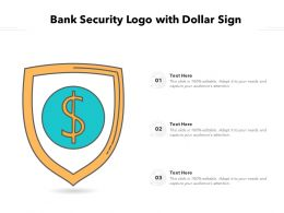 Bank Security Logo With Dollar Sign