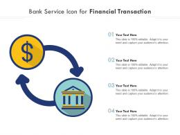 Bank Service Icon For Financial Transaction