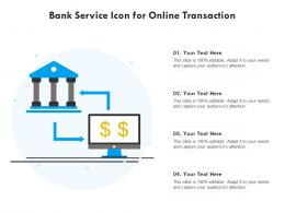 Bank Service Icon For Online Transaction