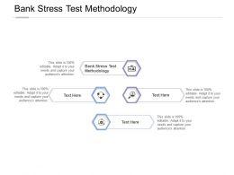 Bank Stress Test Methodology Ppt Powerpoint Presentation Model Ideas Cpb