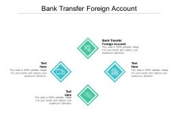 Bank Transfer Foreign Account Ppt Powerpoint Presentation File Structure Cpb