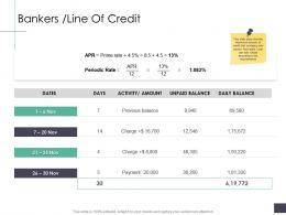 Bankers Line Of Credit Business Analysi Overview Ppt Formats