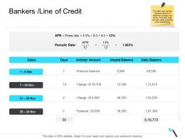 Bankers Line Of Credit Business Operations Management Ppt Guidelines
