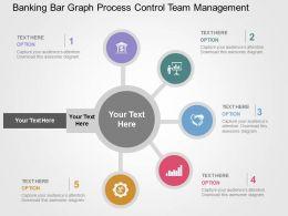 Banking Bar Graph Process Control Team Management Flat Powerpoint Design