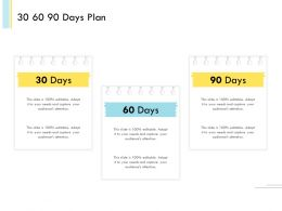 Banking Client Onboarding Process 30 60 90 Days Plan Ppt File Icon