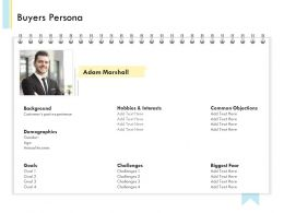Banking Client Onboarding Process Buyers Persona Ppt File Brochure