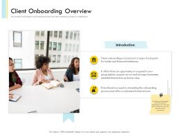 Banking Client Onboarding Process Client Onboarding Overview Ppt File