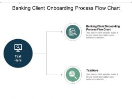 Banking Client Onboarding Process Flow Chart Ppt Powerpoint Presentation Professional Cpb
