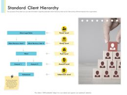 Banking Client Onboarding Process Standard Client Hierarchy Ppt Slides