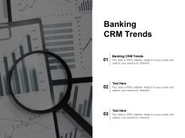 Banking CRM Trends Ppt Powerpoint Presentation File Show Cpb
