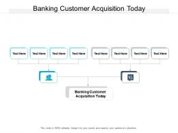 Banking Customer Acquisition Today Ppt Powerpoint Presentation Layouts Tips Cpb