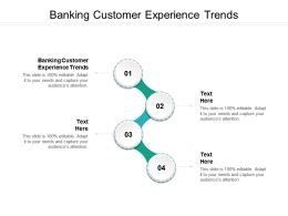 Banking Customer Experience Trends Ppt Powerpoint Presentation Show Sample Cpb