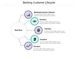 Banking Customer Lifecycle Ppt Powerpoint Presentation Slides Graphic Tips Cpb