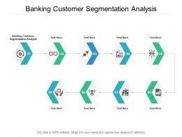 Banking Customer Segmentation Analysis Ppt Powerpoint Presentation Ideas Slide Cpb