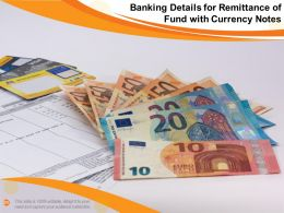 Banking Details For Remittance Of Fund With Currency Notes