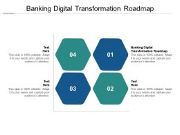 Banking Digital Transformation Roadmap Ppt Powerpoint Presentation Outline Guide Cpb