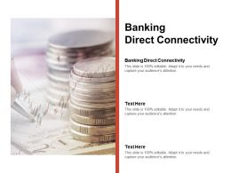 Banking Direct Connectivity Ppt Powerpoint Presentation Slides Background Cpb