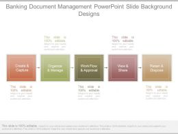 Banking Document Management Powerpoint Slide Background Designs
