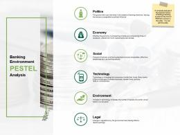 Banking Environment Pestel Analysis Community Bank Overview Ppt Infographics