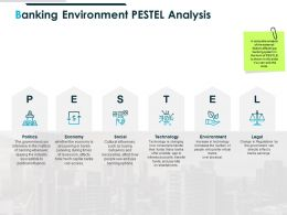Banking Environment Pestel Analysis Compare Ppt Powerpoint Presentation Deck