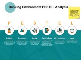Banking Environment Pestel Analysis Ppt Powerpoint Presentation File Professional