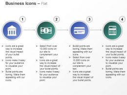 Banking Financial Investment Credit Card Calculator Ppt Icons Graphics