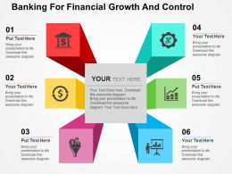 Banking For Financial Growth And Control Flat Powerpoint Design