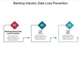 Banking Industry Data Loss Prevention Ppt Powerpoint Presentation Ideas Information Cpb