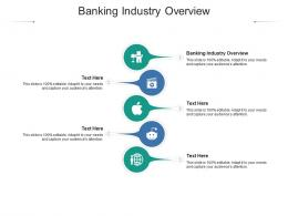 Banking Industry Overview Ppt Powerpoint Presentation Show Clipart Images Cpb