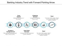 Banking Industry Trend With Forward Pointing Arrow