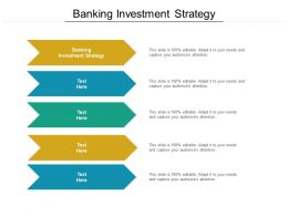 Banking Investment Strategy Ppt Powerpoint Presentation Gallery Inspiration Cpb