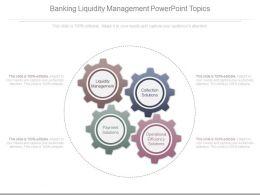 Banking Liquidity Management Powerpoint Topics