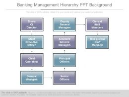 Banking Management Hierarchy Ppt Background